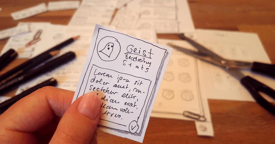 Prototyp aus Papier